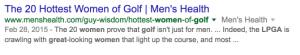 Women Golfers Search 2