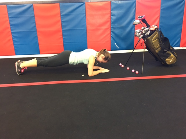 Golf Exercise - Plank