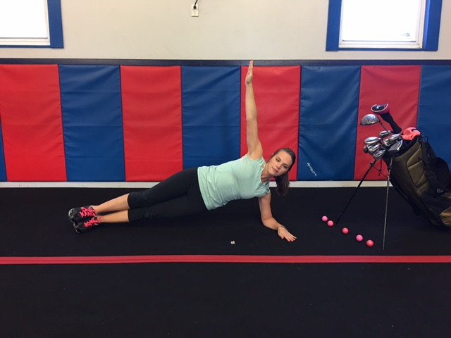 Golf Exercise - Side Plank